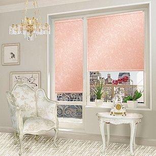 """Рулонная штора для балконной двери """"Арабеска коралловый"""""""