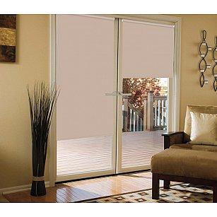 Рулонная штора для балконной двери blackout светонепроницаемый, бежевый