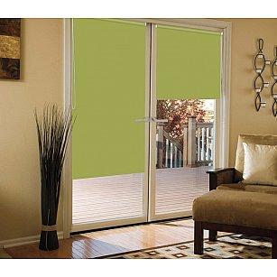 Рулонная штора для балконной двери blackout светонепроницаемый, оливковый