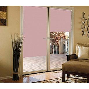 Рулонная штора для балконной двери blackout светонепроницаемый, розовый кварц