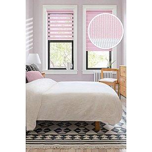 """Рулонная штора """"День-Ночь"""", розовый, 37 см"""