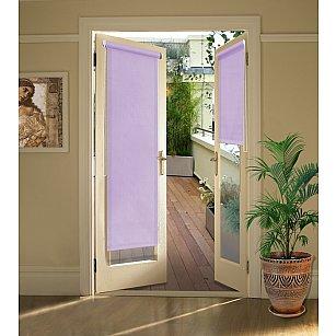 """Рулонная штора для балконной двери """"Фиолетовый"""""""