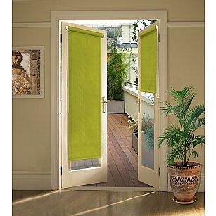 """Рулонная штора для балконной двери """"Темно-оливковый"""""""