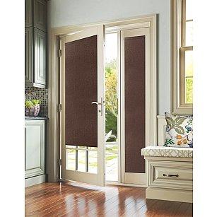 """Рулонная штора для балконной двери """"Рояль коричневый"""""""