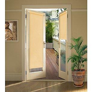 """Рулонная штора для балконной двери """"Светлый абрикос"""""""