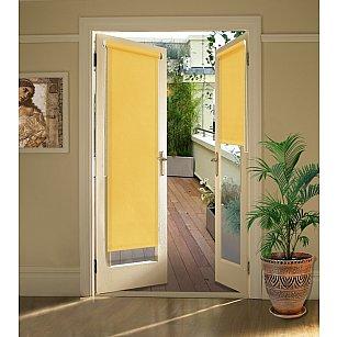 """Рулонная штора для балконной двери """"Светло-желтый"""""""