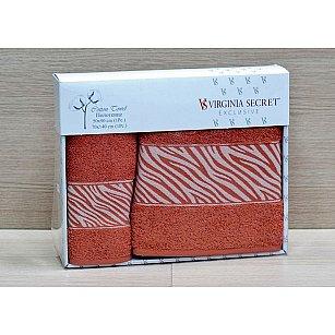 Комплект полотенец Virginia Secret Ornament (COTTON) в коробке (50*90; 70*140), терракотовый