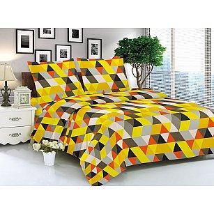 КПБ мако-сатин печатный Vitold (1.5 спальный), желтый