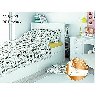 КПБ поплин детский eco cotton combo с трикотажной простыней Gatos YE (1.5 спальный)