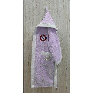 Детский банный халат Volenka Юнга на 10-12 лет, светло-сиреневый