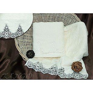 Комплект полотенец Barracouta Кружево (Cotton) в коробке (50*90; 70*140), молочный