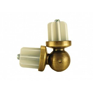 Эркер для металлического карниза, золото антик, диаметр 25 мм