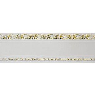 """Карниз потолочный пластиковый без поворота """"Гранд"""", 2 ряда, белое золото, 200 см-A"""