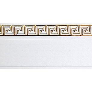 """Карниз потолочный пластиковый без поворота """"Греция"""", 2 ряда, белый, 240 см-A"""