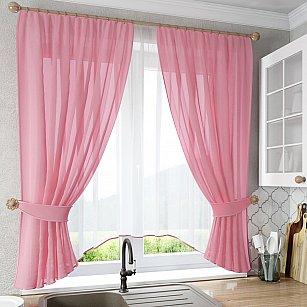 """Шторы """"Лидия"""", розовый"""