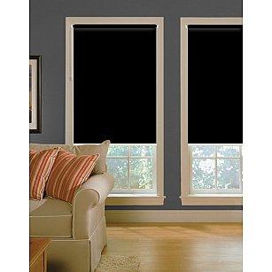 """Рулонная штора ролло lux """"Satin"""", черный, 120 см-A"""