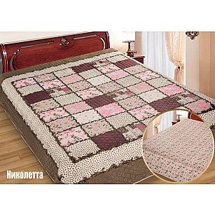 """Одеяло-покрывало I.M.A. Gold """"Николетта"""", коричневый, розовый"""