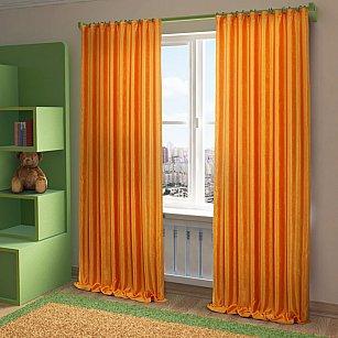 """Шторы """"Жульет"""", оранжевый, 150*260 см"""