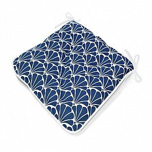 "Подушка на стул  ""Blue Garden"", дизайн 140"