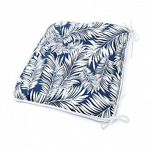 "Подушка на стул  ""Blue Palma"", дизайн 140"