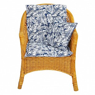 """Подушка на стул со спинкой """"Blue Palma"""", дизайн 100"""