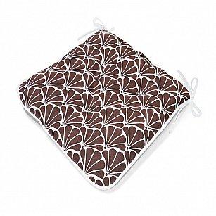 "Подушка на стул  ""Brown Garden"", дизайн 140"