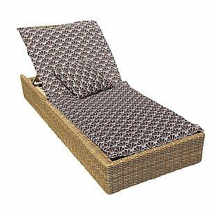 """Подушка на шезлонг """"Brown Garden"""", дизайн 190"""