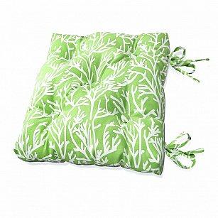 "Подушка на стул ""Green Corals"", дизайн 140"