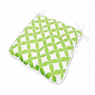 "Подушка на стул  ""Green Round"", дизайн 140"