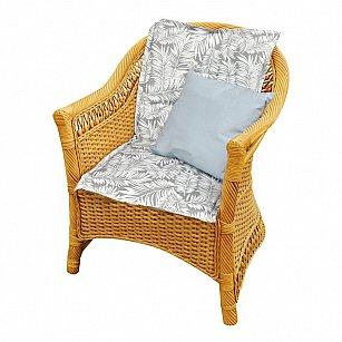 "Подушка на стул со спинкой ""Grey Palma"", дизайн 100"