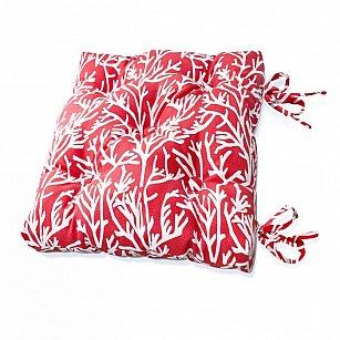 "Подушка на стул ""Red Corals-S"", дизайн 150"