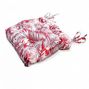 "Подушка на стул ""Red Palma-S"", дизайн 150"