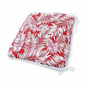 "Подушка на стул ""Red Palma"", дизайн 140"