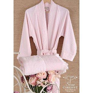 Халат махровый женский SENSE Pembe, розовый, р. L/XL