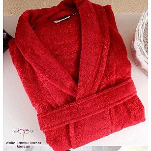 Халат махровый женский WELLA Mercan, красный