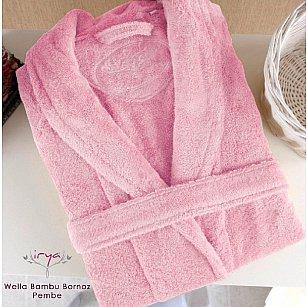 Халат махровый женский WELLA Pembe, розовый