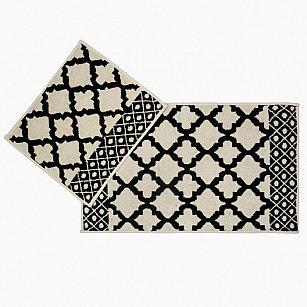 Набор ковриков для ванной Arya Erciyes (60*100 см; 50*60 см), черный