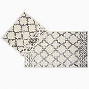 Набор ковриков для ванной Arya Erciyes (60*100 см; 50*60 см), серый