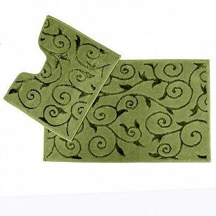 Набор ковриков для ванной Arya Sarmasik (60*100 см; 50*60 см), зеленый