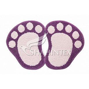 Коврик Shahintex Лапки Microfiber разделенные, фиолетовый 61
