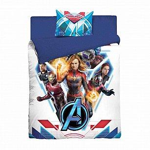 """КПБ Marvel """"Капитан Марвел"""" с наволочкой 50*70 (1.5 спальный)"""