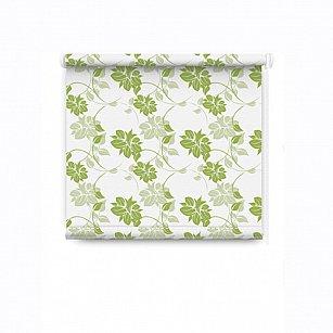 """Рулонная штора """"Цветы"""", зеленый"""