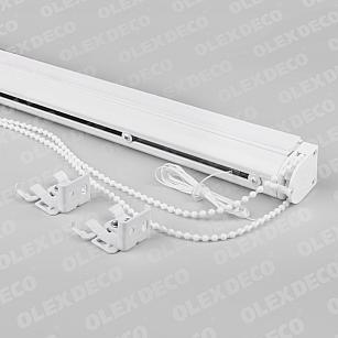 Карниз для римских штор закрытого типа «Мадрид», белый, 130 см-A
