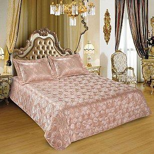 Покрывало I.M.A. LUX Жаккард с наволочками №115, розовый