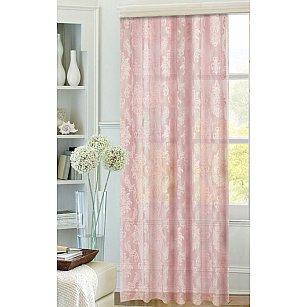 """Тюль сетка """"Цветы"""", розовый, 200*270 см"""