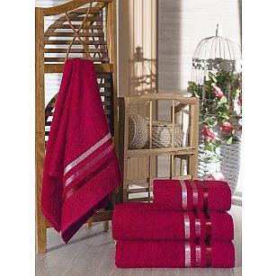 Комплект из 4-х махровых полотенец Vevien Ekonomik (50*90; 70*140), бордовый