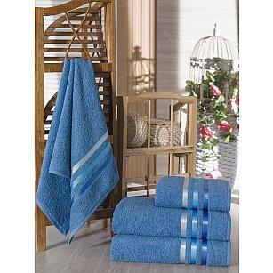 Комплект из 4-х махровых полотенец Vevien Ekonomik (50*90; 70*140), светло-синий