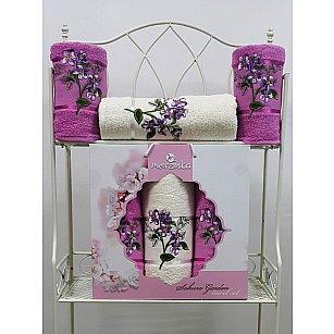 Комплект махровых полотенец Sakura Garden в коробке (50*80; 70*130), светло-лиловый