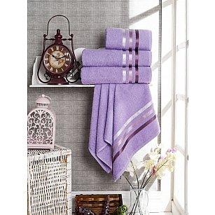 Комплект из 4-х махровых полотенец Vevien Ekonomik (50*90; 70*140), лиловый
