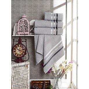 Комплект из 4-х махровых полотенец Vevien Ekonomik (50*90; 70*140), серый